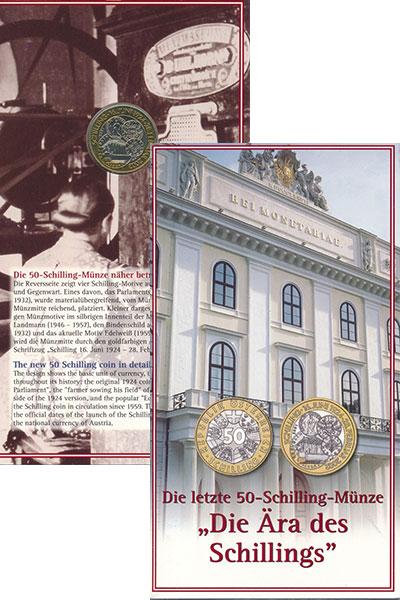 Изображение Монеты Австрия 50 шиллингов 2002 Биметалл UNC Эра шиллинга в Австр