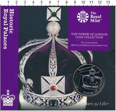 Изображение Подарочные монеты Великобритания 5 фунтов 2019 Медно-никель UNC Вторая монета из сер