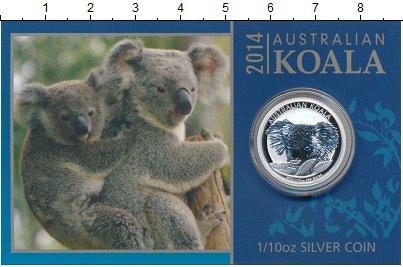 Изображение Монеты Австралия 10 центов 2014 Серебро Proof Коала.<br>Оригиналь