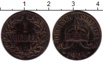 Изображение Монеты Германия Немецкая Африка 1 геллер 1904 Бронза XF-