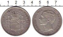 Изображение Монеты Испания 5 песет 1877 Серебро XF