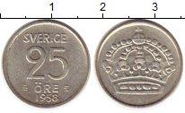 Изображение Монеты Швеция 25 эре 1958 Серебро XF
