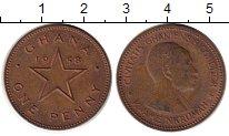 Изображение Монеты Гана 1 пенни 1958 Бронза XF