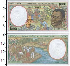 Изображение Банкноты Центральная Африка 1000 франков 2000  UNC