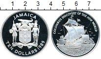 Изображение Монеты Ямайка 10 долларов 1989 Серебро Proof-