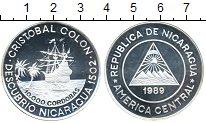 Изображение Монеты Никарагуа 10000 кордобас 1989 Серебро Proof-