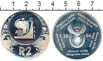 Изображение Монеты ЮАР 2 ранда 2006 Серебро Proof-