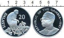 Изображение Монеты Гамбия 20 даласи 1987 Серебро Proof