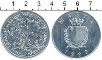 Изображение Монеты Мальта 5 лир 1990 Серебро Proof-