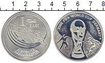 Изображение Монеты Грузия 1 лари 2004 Серебро Proof-