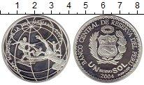 Изображение Монеты Перу 1 соль 2004 Серебро Proof-