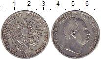 Изображение Монеты Германия Пруссия 1 талер 1866 Серебро XF-