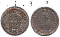 Изображение Монеты Швейцария 1/2 франка 1968 Серебро XF