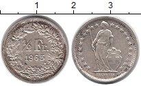 Изображение Монеты Швейцария 1/2 франка 1965 Серебро UNC-