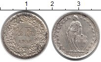 Изображение Монеты Швейцария 1/2 франка 1958 Серебро UNC-
