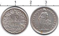 Изображение Монеты Швейцария 1/2 франка 1961 Серебро UNC-
