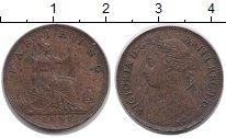 Изображение Монеты Великобритания 1 фартинг 1891 Медь XF-