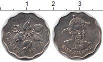 Изображение Монеты Свазиленд 5 центов 1974 Медно-никель UNC-