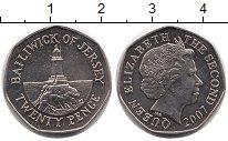 Изображение Монеты Остров Джерси 20 пенсов 2007 Медно-никель UNC-