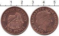 Изображение Монеты Великобритания Остров Джерси 2 пенса 2006 Бронза UNC-
