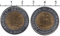 Изображение Монеты Сан-Марино 500 лир 1993 Биметалл UNC-