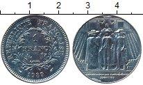 Изображение Монеты Франция 1 франк 1989 Медно-никель UNC-