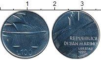 Изображение Монеты Сан-Марино 100 лир 1990 Сталь UNC