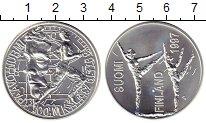 Монета Финляндия 100 марок Серебро 1997 UNC фото