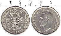 Изображение Монеты Великобритания 2 шиллинга 1945 Серебро XF