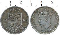 Изображение Монеты Фиджи 1 флорин 1943 Серебро VF