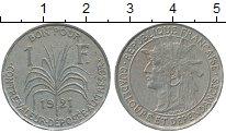 Изображение Монеты Гваделупа 1 франк 1921 Медно-никель XF-