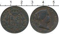 Изображение Монеты Испания 25 сентим 1862 Медь XF