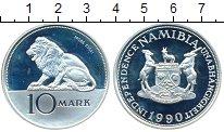 Изображение Монеты Намибия 10 марок 1990 Серебро Proof-