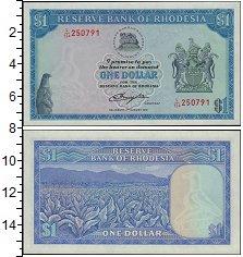 Изображение Банкноты Великобритания Родезия 1 доллар 1979  UNC