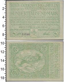 Изображение Банкноты Веймарская республика 100000 марок 1923  UNC-