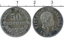 Изображение Монеты Италия 50 сентесим 1863 Серебро XF-