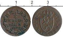 Изображение Монеты Германия Нассау 1/4 крейцера 1822 Медь XF