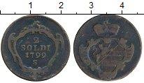 Изображение Монеты Италия Гориция 2 сольди 1799 Медь XF-