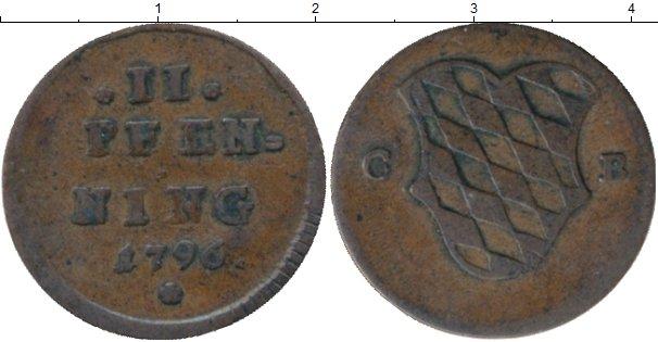 Картинка Монеты Бавария 2 пфеннига Медь 1796