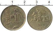 Изображение Монеты Литва 10 центов 1925 Латунь XF+