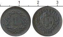 Изображение Монеты Швейцария 1 рапп 1909 Медь XF