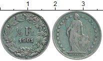 Изображение Монеты Швейцария 1/2 франка 1901 Серебро XF
