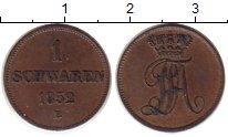 Изображение Монеты Германия Ольденбург 1 шварен 1852 Медь XF