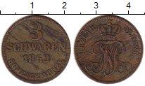 Изображение Монеты Германия Ольденбург 3 шварена 1862 Медь VF+