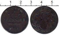 Изображение Монеты Германия Саксен-Кобург-Саалфелд 4 пфеннига 1809 Медь VF