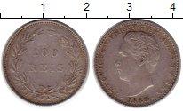 Изображение Монеты Португалия 100 рейс 1888 Серебро XF