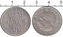 Изображение Монеты Швеция 1 крона 1960 Серебро UNC-