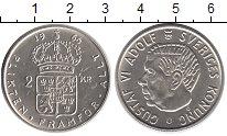 Изображение Монеты Швеция 2 кроны 1966 Серебро UNC