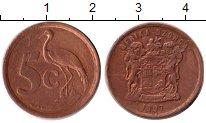 Изображение Монеты ЮАР 5 центов 1997 Бронза VF
