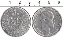 Монета Норвегия 2 кроны Серебро 1913 XF фото